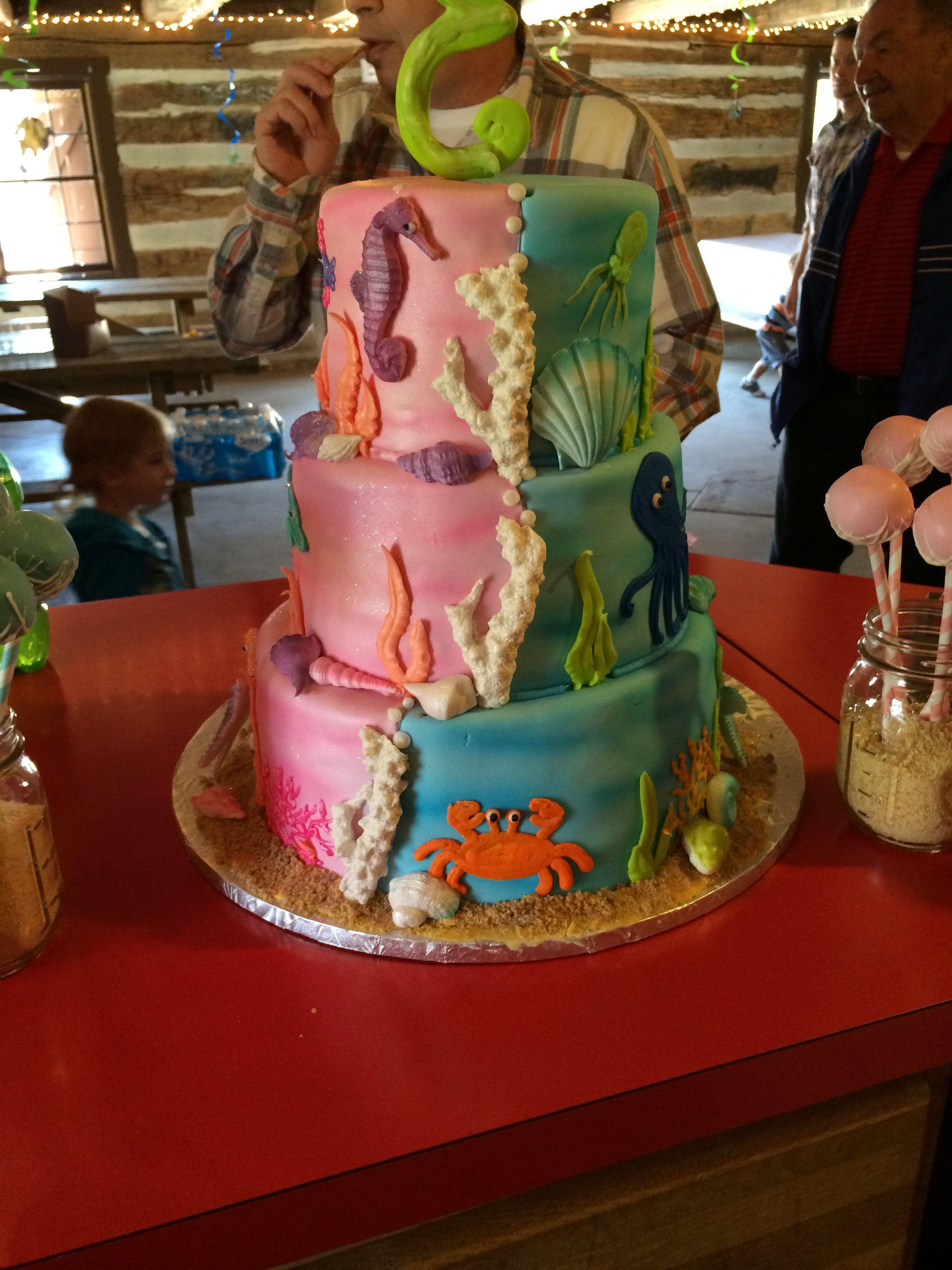 Boy Girl Twins Under The Sea Birthday Cake