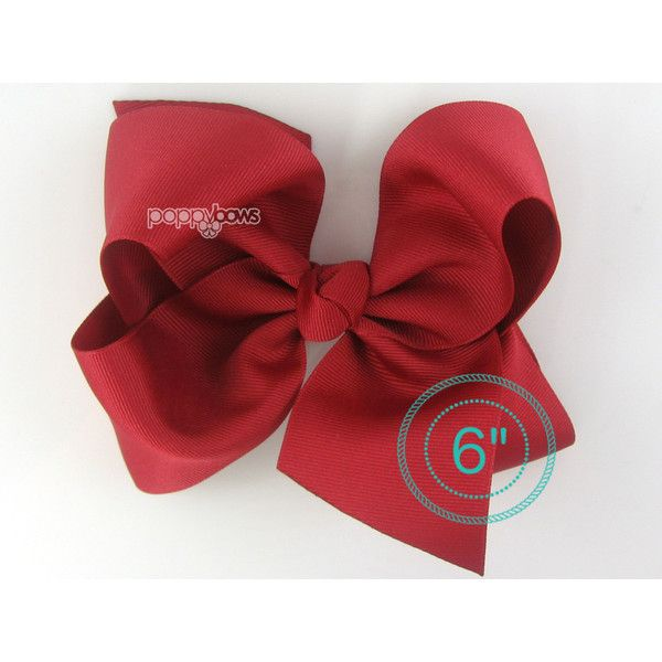 Extra Large Hair Bow Cranberry Red Hair Bow 6 6 Inch Hair Bows Big Bow... ($8.95) ❤ liked on Polyvore featuring accessories, hair accessories, barrettes & clips, grey, red bow hair accessories, red hair clip, red hair bow, alligator hair clips and hair bows