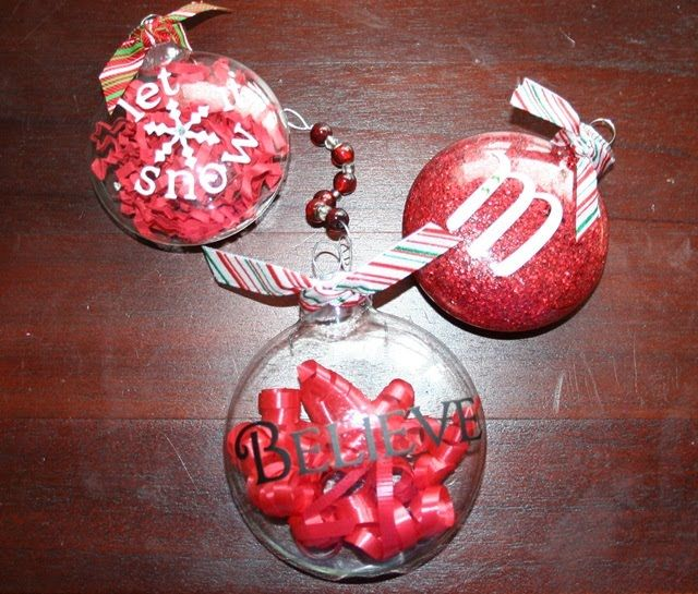 Glass Ball Ornaments Home Made Simple ornaments Pinterest