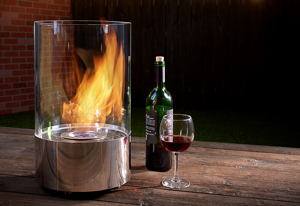 Tabletop Round Fireplace Sharper Image In 2020 Tabletop