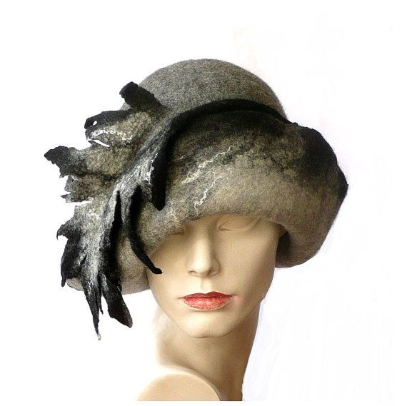 Unique Felt hat,Millinery hat,Cloche hat,felted Hat,Cloche hats ...