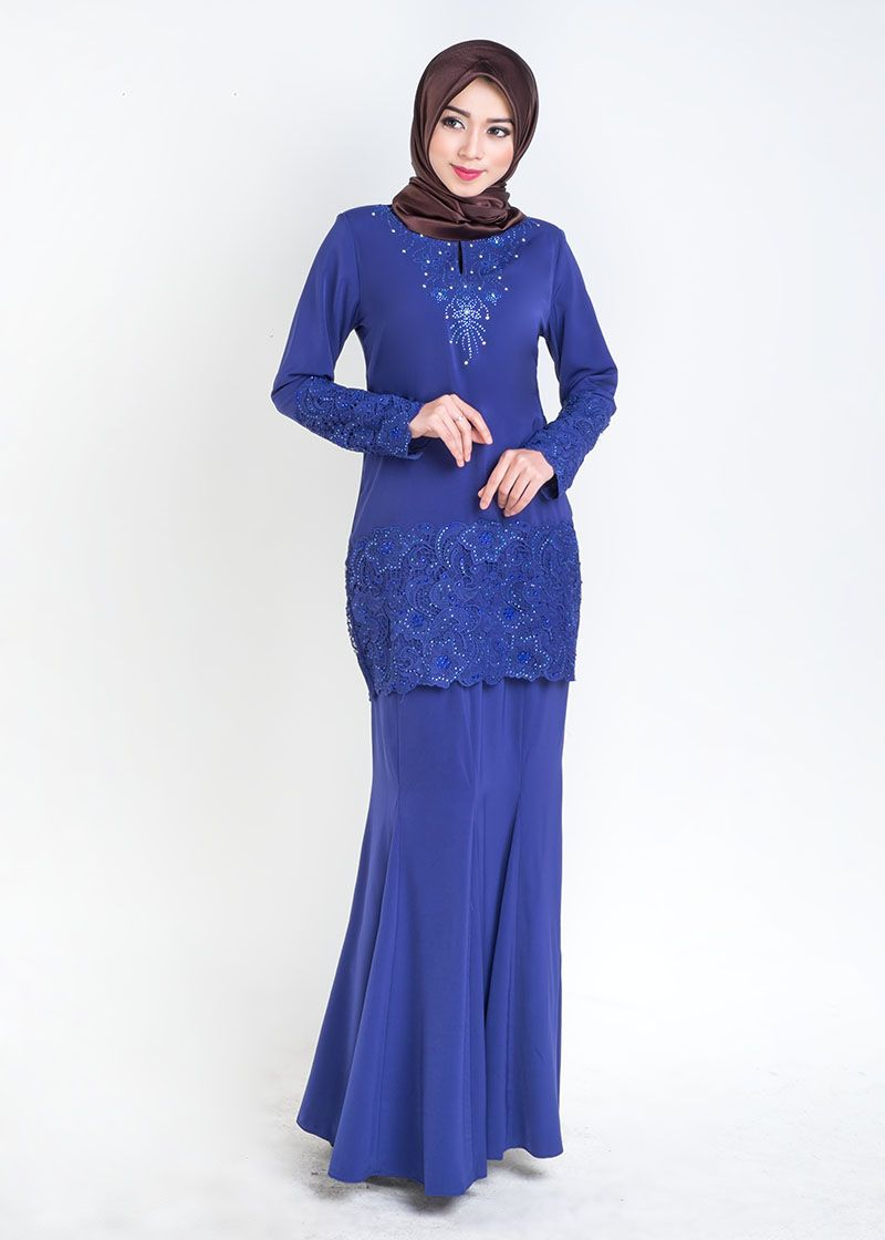 Qalisya Kurung Prada Royal Blue Clothes Project Pinterest