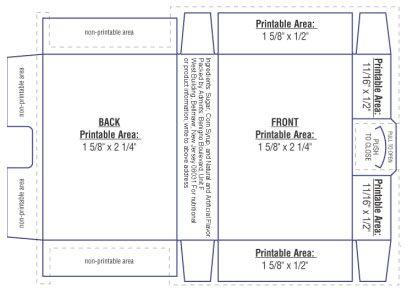 gum packaging template design pinterest template and package design. Black Bedroom Furniture Sets. Home Design Ideas