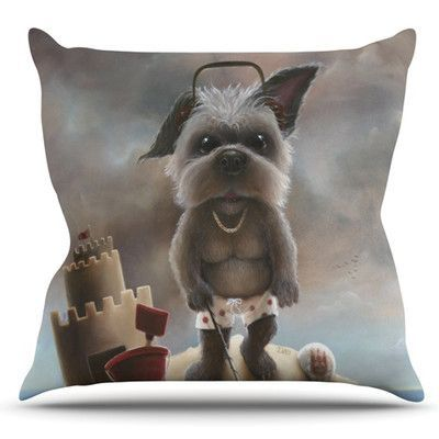 KESS InHouse Grover by Graham Curran Outdoor Throw Pillow