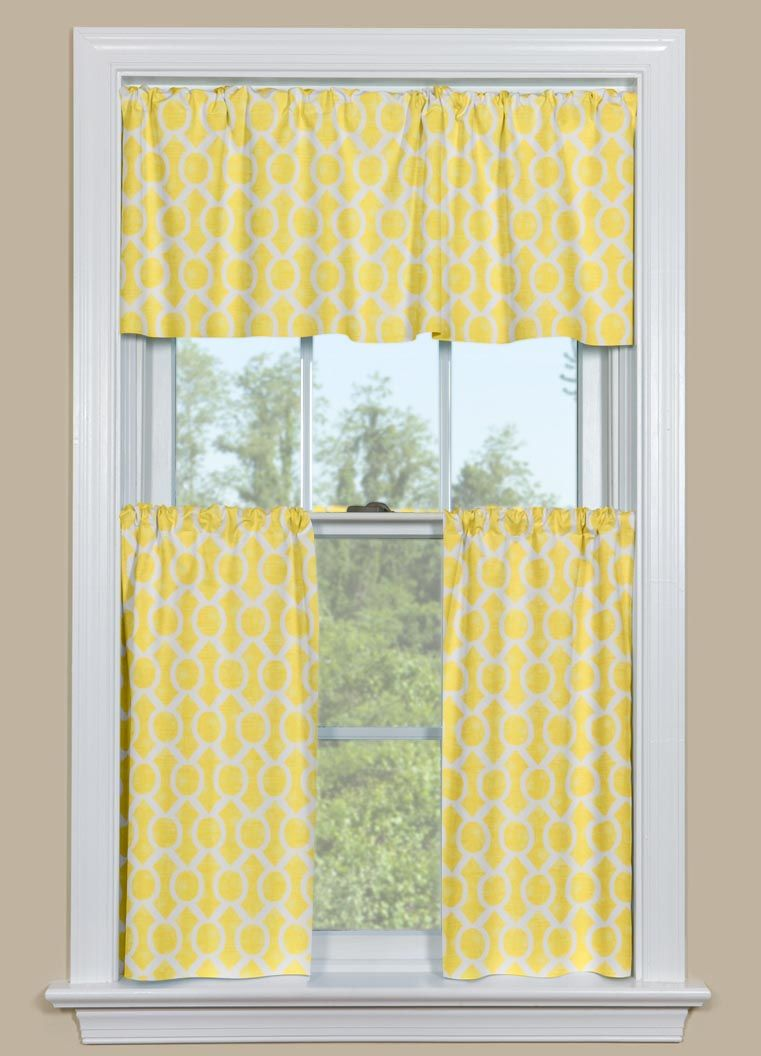 Charmant Yellow Kitchen Curtains Valances