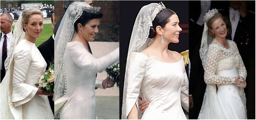 Four Royal Brides All Wearing The Irish Lace Veil That Princess