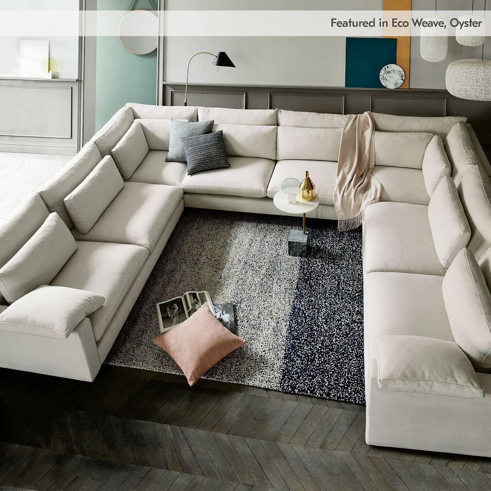 Modular Harmony Sectional Extra Deep Large Sectional Sofa U Shaped Sectional Sofa Comfortable Sectional