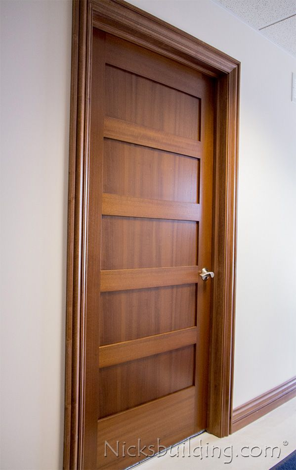 Interior Mahogany Shaker Doors 5 Panel