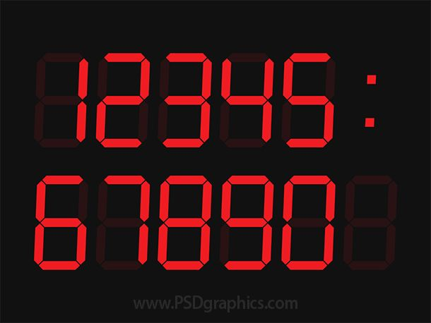 Digital clock #PSD sablon    wwwpsdgraphics templates - scoreboard template
