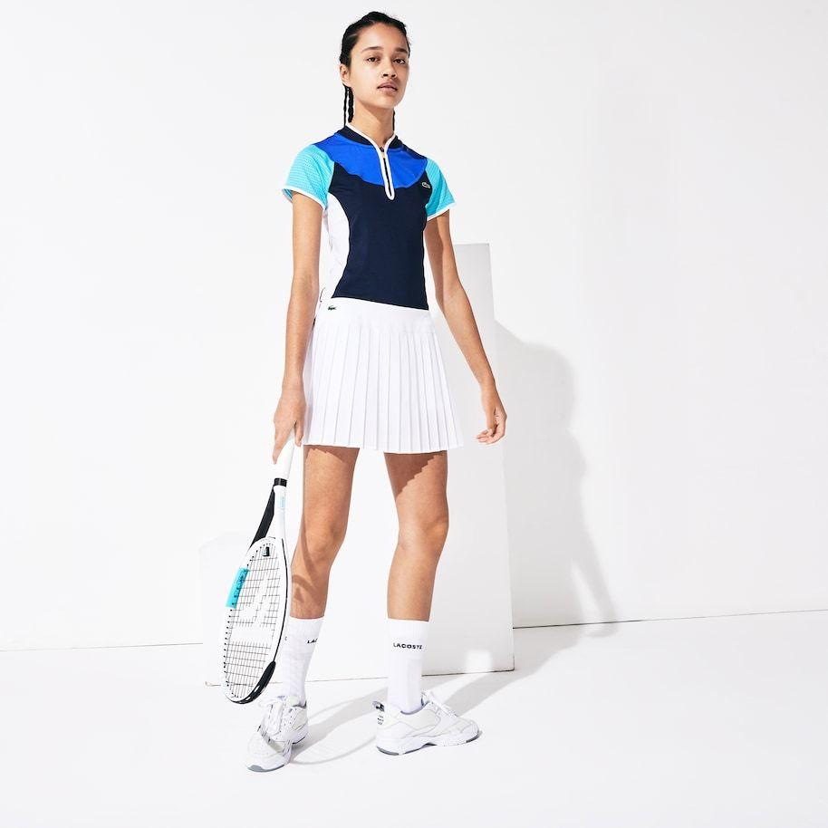 Women S Sport Ultra Dry Pleated Tennis Skirt In 2020 Tennis Skirt Lacoste Sport Pleated Tennis Skirt