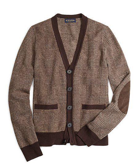 Saxxon™ Wool Glen Plaid Cardigan