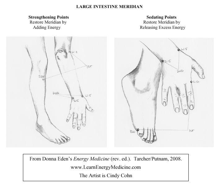 Large Intestine Meridian Strengthening & Sedating