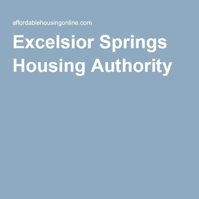 Excelsior Springs Housing Authority Excelsior Springs Missouri With Images Author Illinois Woodford County