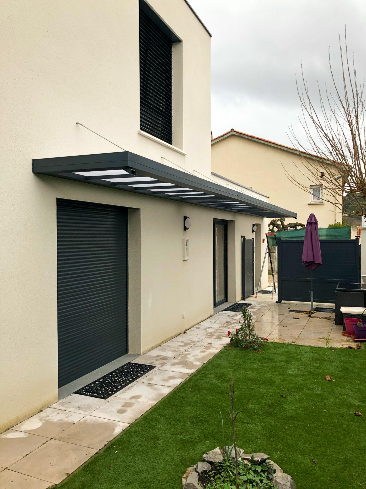 Marquise Aluminium En 2020 Auvents Maison Auvent De Porte Auvent