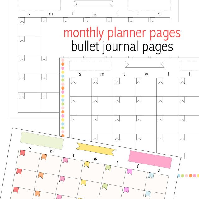 Free printable monthly planner page - perpetual calendar - freebie - printable monthly planner