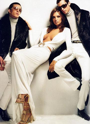 Model Daria Werbowy, photographer Mario Testino for Gucci, FW 2004
