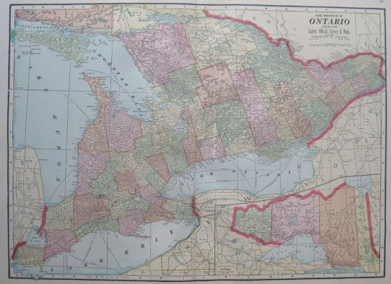 Antique ontario map of ontario canada 1911 vintage by plaindealing antique ontario map of ontario canada 1911 vintage by plaindealing gumiabroncs Choice Image