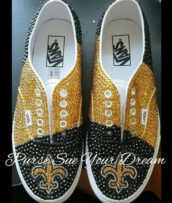 Custom Swarovski Crystal Rhinestone New Orleans Saints Inspired ... 3c19d06f5f