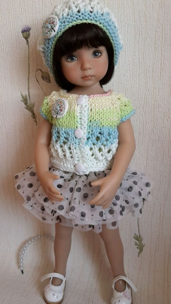 Photo of OOAK Outfit for doll 13″ Dianna Effner Little Darling hand m…