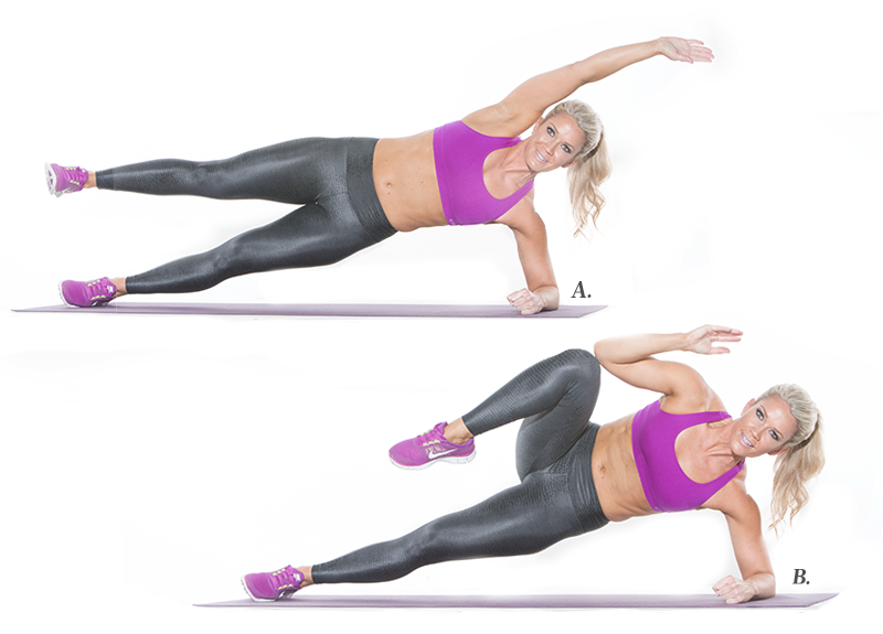 Image result for Side Plank Crunches