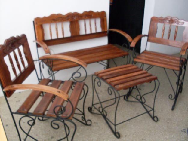 juegos de muebles en hierro - Buscar con Google | herreria ...
