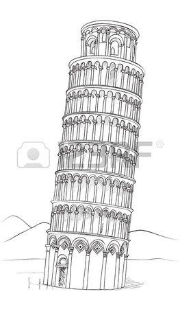 Torre De Pisa Dibujado A Mano Ilustracion Vectorial Torre Inclinada De Pisa Pisa Toscana Italia Manos Dibujo Ilustracion De Londres Bocetos Arquitectonicos