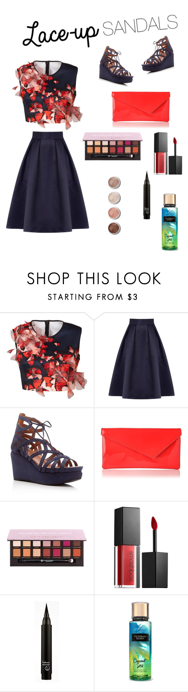 """Gemma - Style Insider Contest"" by kentigerna on Polyvore featuring moda, Clover Canyon, Coast, Gentle Souls, Anastasia Beverly Hills, Smashbox, Terre Mère, contestentry, laceupsandals e PVStyleInsiderContest"