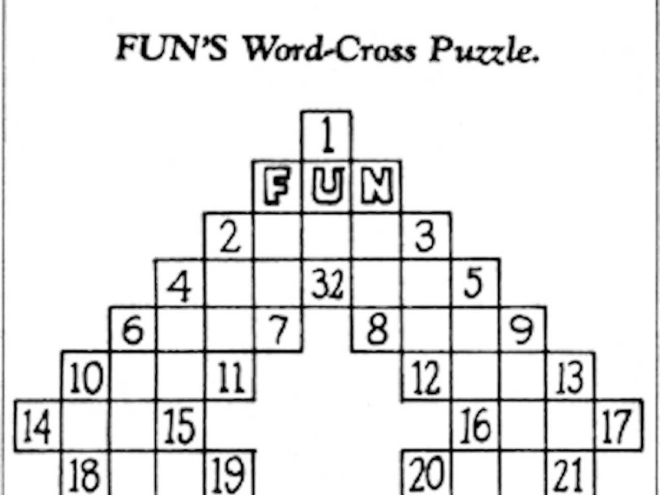 Here S The First Crossword Puzzle That Ran 100 Years Ago Today Crossword Puzzle Puzzle Cool Words