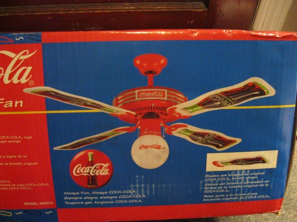 New unique coca cola ceiling fan 44 coke globe glass metal light new unique coca cola ceiling fan 44 coke globe glass metal light rare aloadofball Images