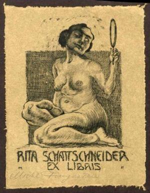 Exlibris für Rita Schattschneider.