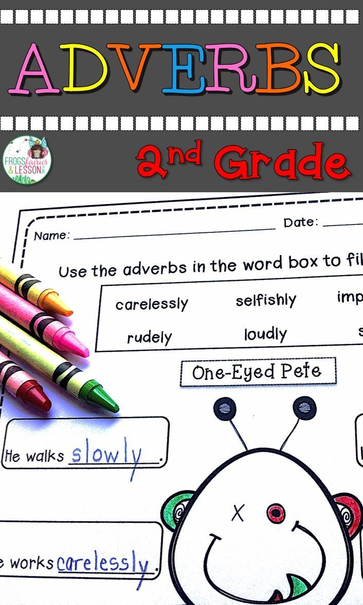 Adjectives and Adverbs 2nd Grade Adverb activities