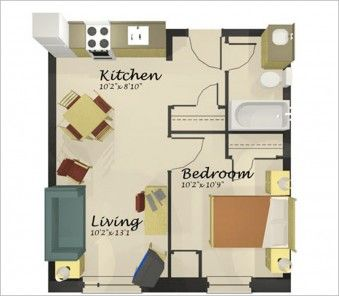 Volumptuous One Bedroom House One Room Houses Apartment Floor