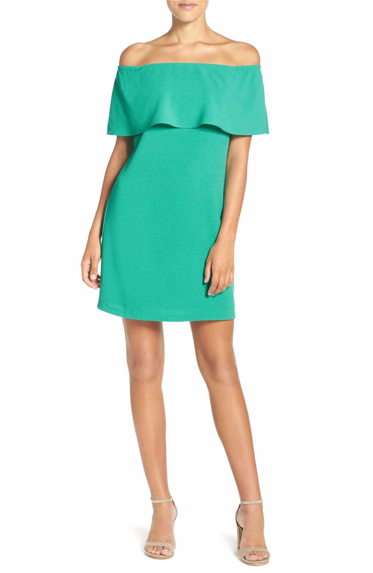 Off the Shoulder Dress | Shoulder dress, Petite and Shoulder