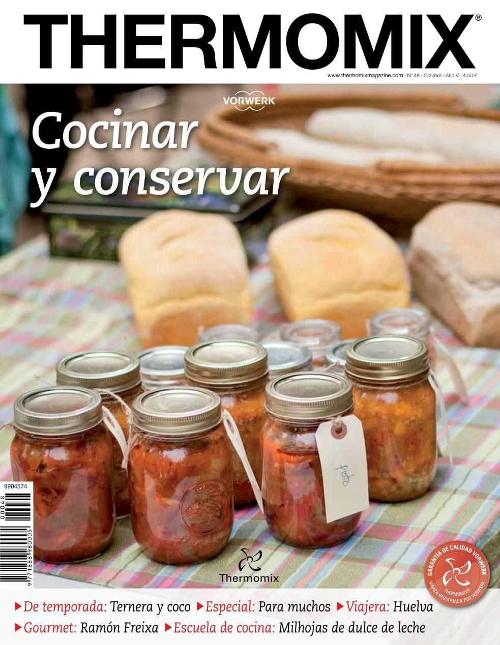 Thema048 thermomix magazinen 48 cocinar y conservar by for Cocinar 4 niveles thermomix