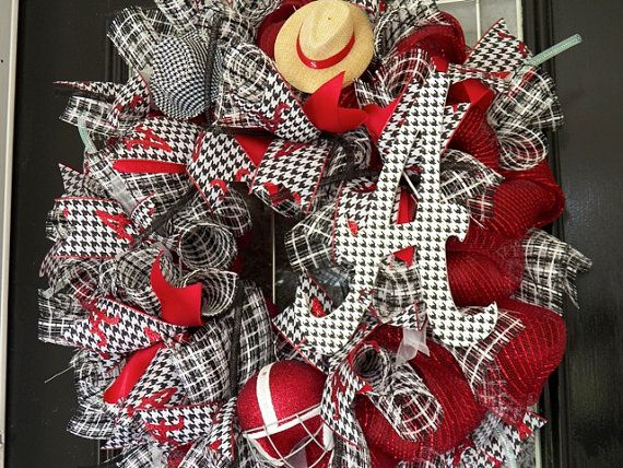 Alabama Football Wreath Alabama Decoration by OccasionsBoutique
