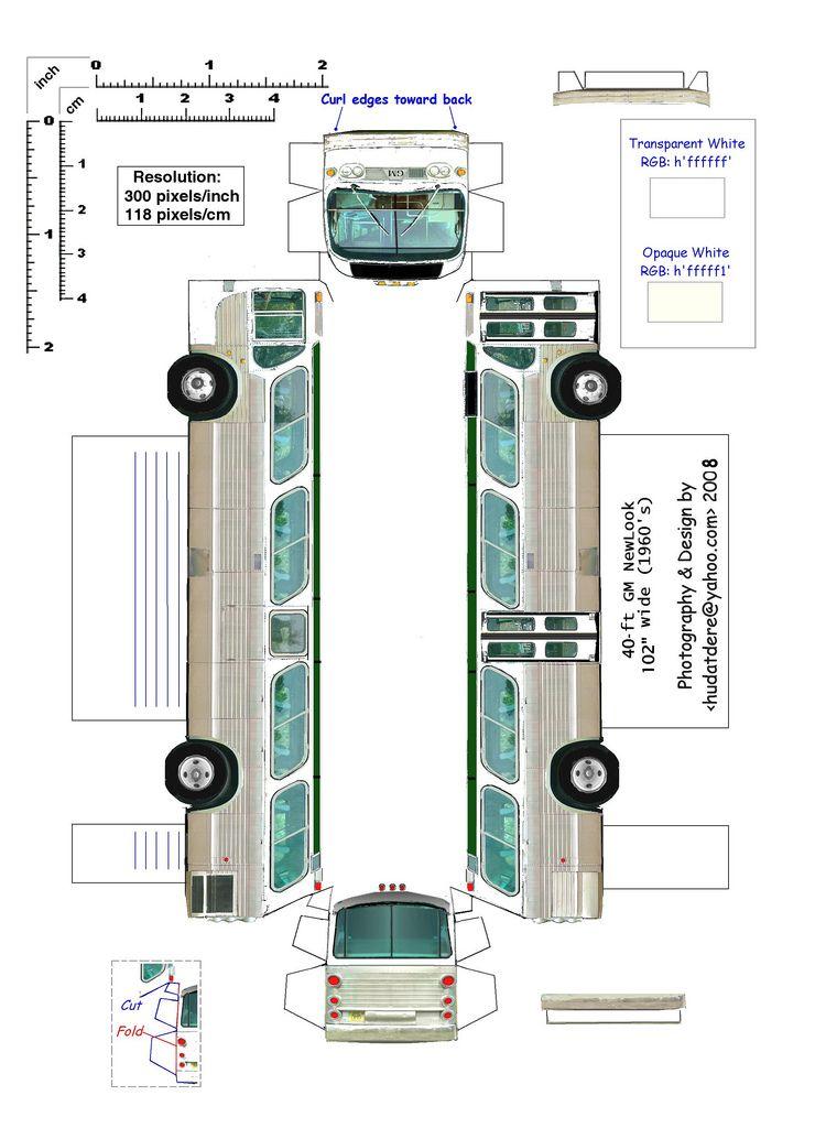 paper buses paper bus parts 7 printables transportation
