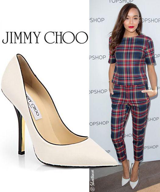 48d00ae1d3fa Ashley Madekwe celebrity Jimmy Choo shoe style  fashion week  womensday