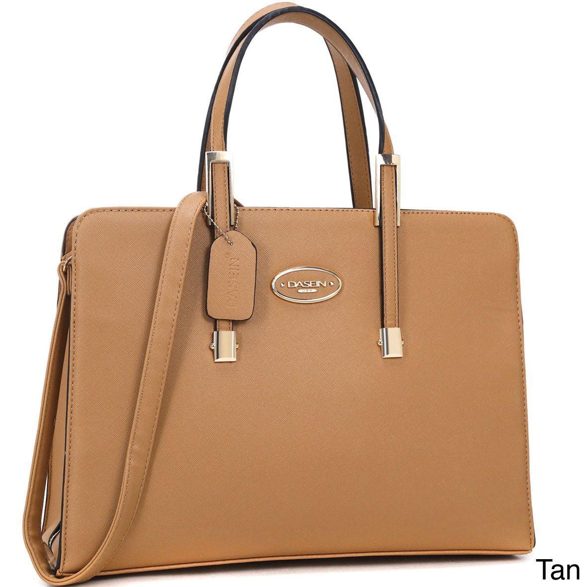 11ddfab50 Dasein Two-tone Faux Satchel Handbag w/Removable Shoulder Strap Bolsas De  Mão On