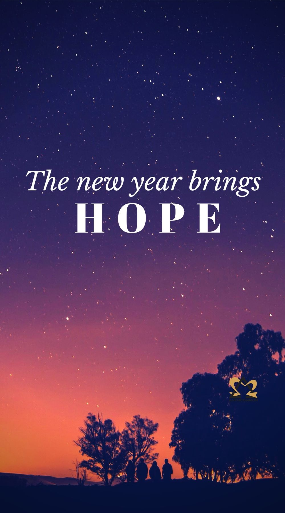 Symbol of Hope Happy New Year and a Fresh Start Hope