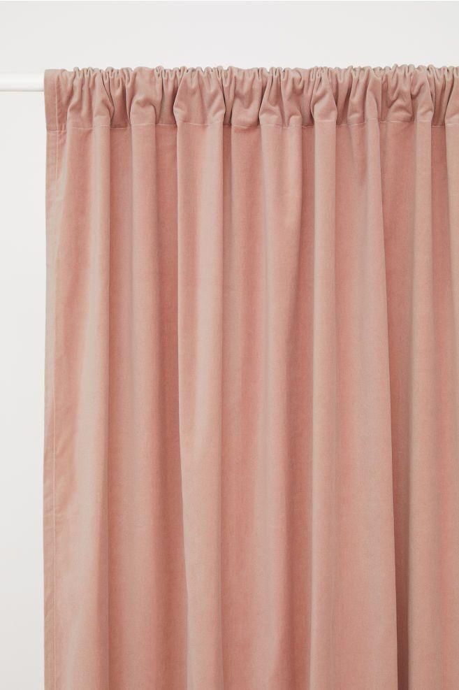 2 Pack Velvet Curtain Panels Dark Blue Floral Home All H M