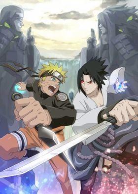 Metal Poster Naruto Vs Sasuke