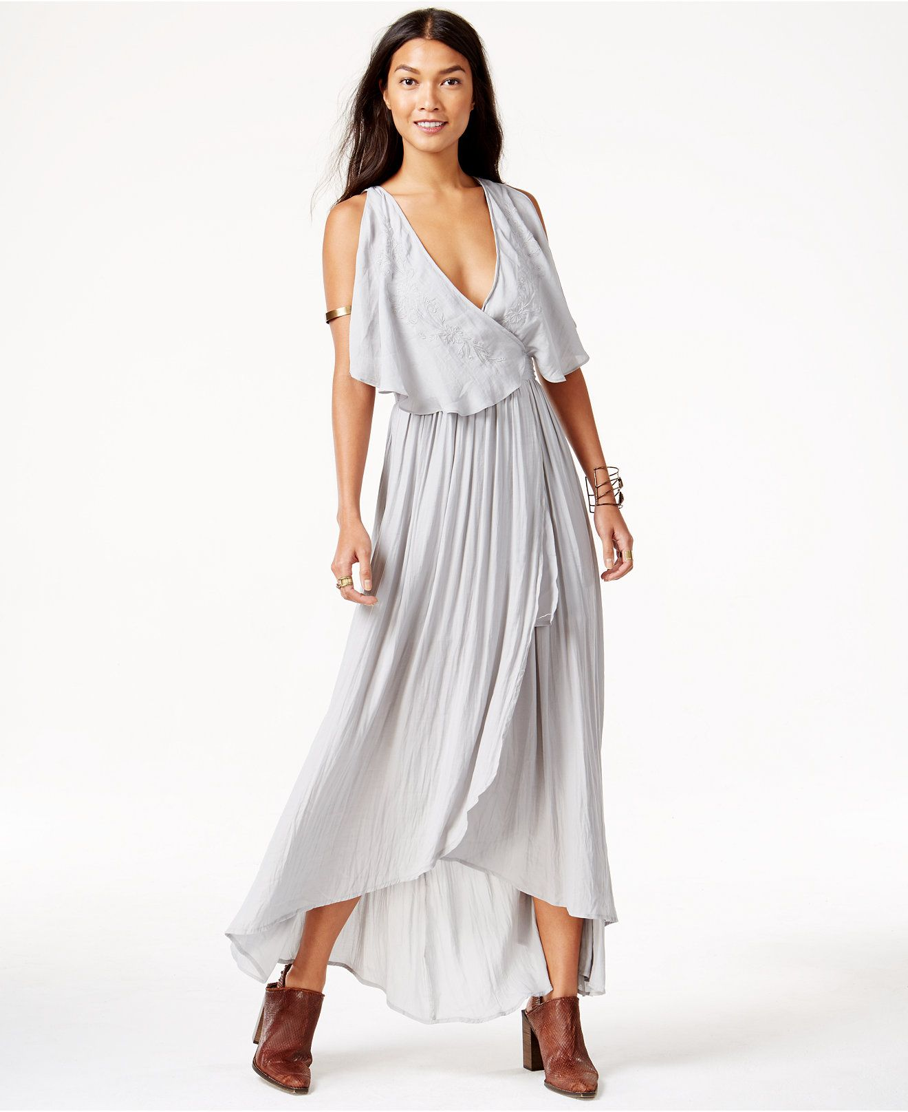 Free People Embroidered Wrap-Detail Maxi Dress - Free People - Women -  Macy s cec3a042a8