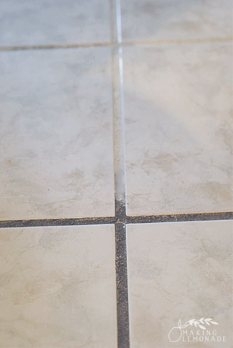 How To Clean Grout With Vinegar And Baking Soda Cleaning Grout On Tile Floors Or In The Shower Is Easy With Baking Soda Cleaning Clean Tile Grout Clean Tile
