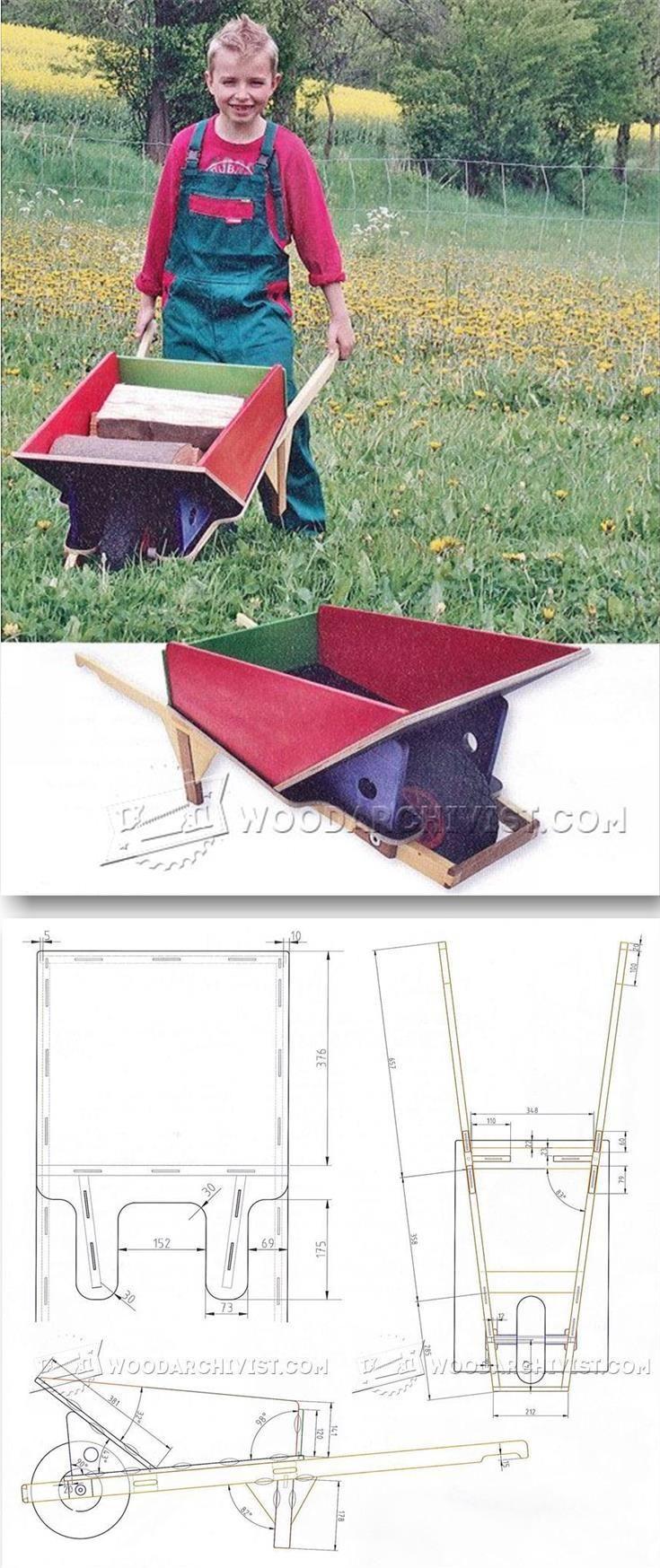 Diy Childrens Garden Cart Children S Outdoor Plans And Projects Woodarchivist Com Woodworking For Kids Kids Wooden Toys Children S Garden