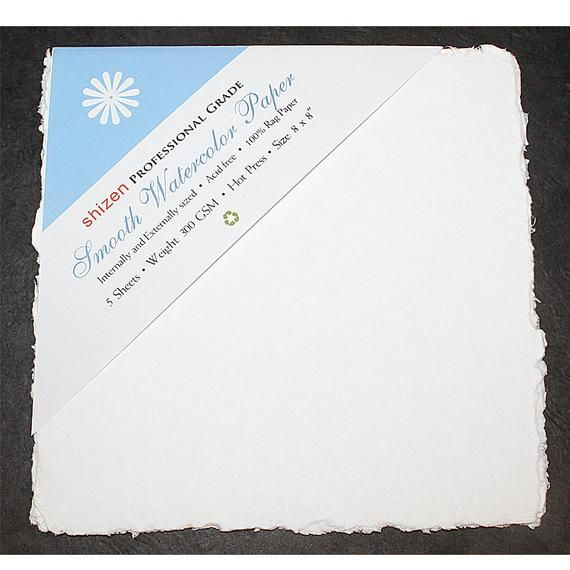 Handmade Deckle Edge Indian Cotton Watercolor Paper Pack Smooth