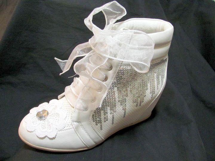 Light Weight Platform 3 Inch Bridal Tennis Shoes
