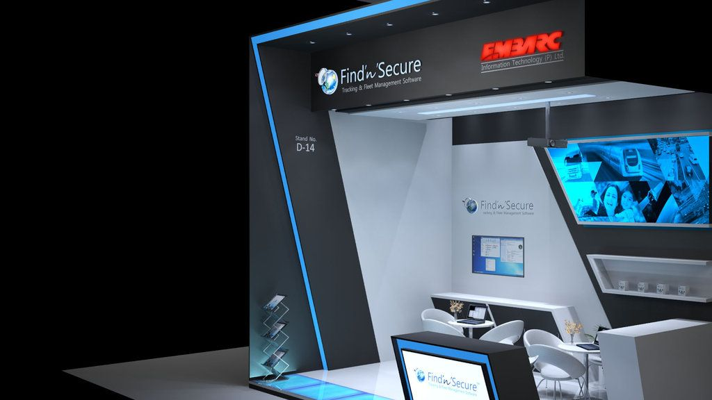 New Exhibition Stand Technology : Custom exhibition stand for embarc information technology