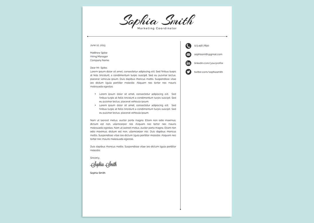 classic script word resume template by vandelay on