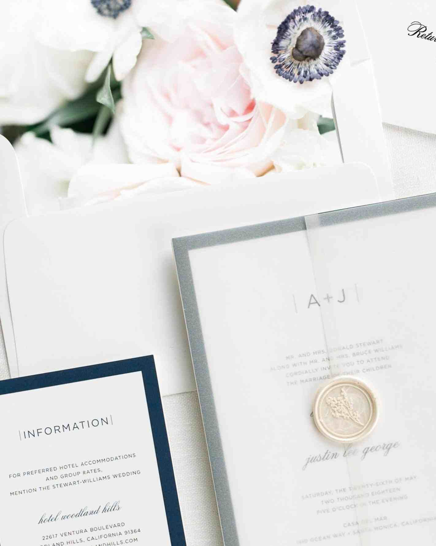 Modern floral wedding invitations weddings pinterest floral