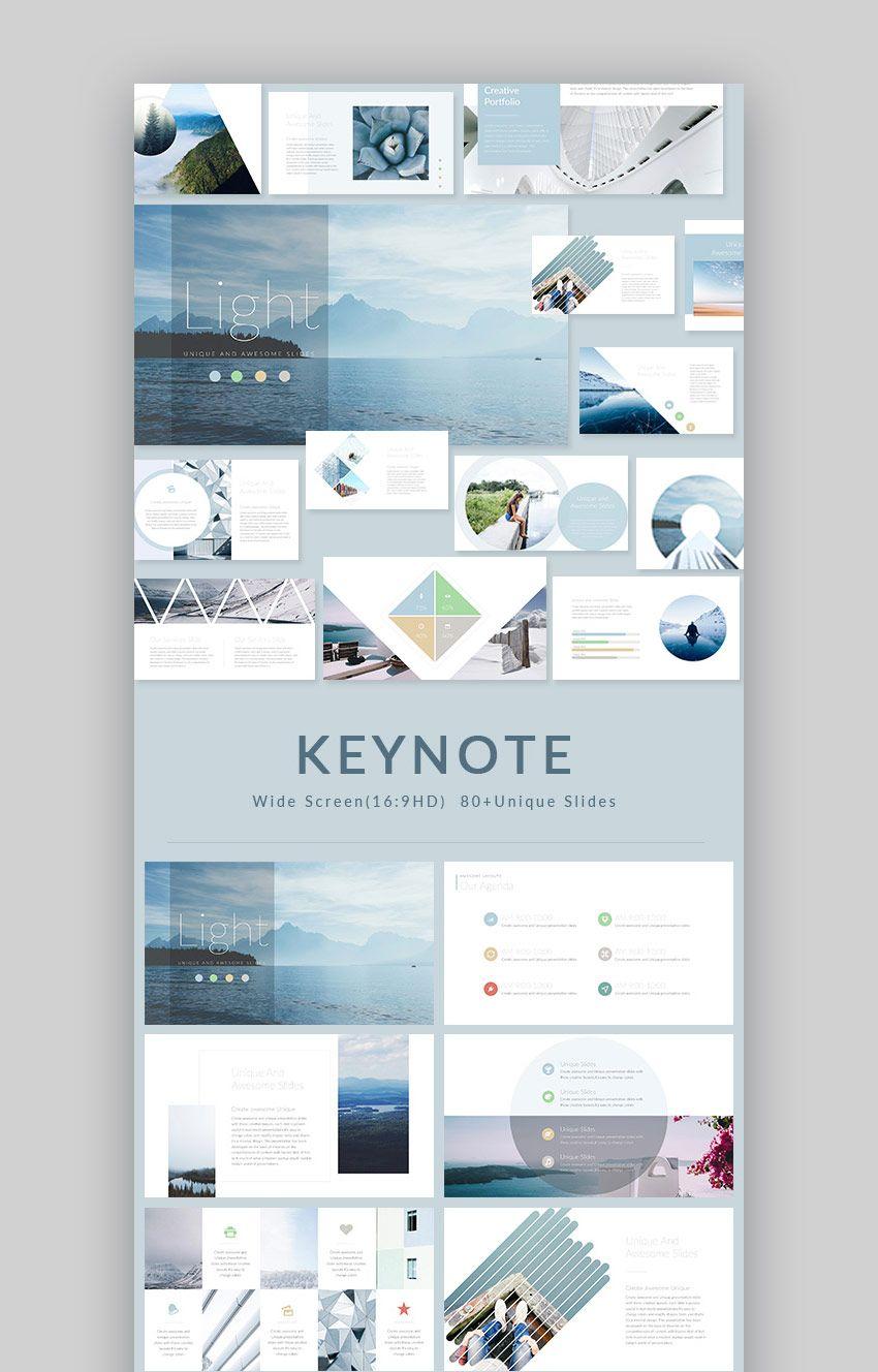 light modern keynote presentation template design keynote